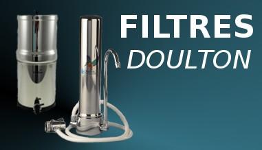 Filtres Doulton sur evier (SS2, HCA, HCS, HCP), sous-evier (HIP, HIS, DUO...)